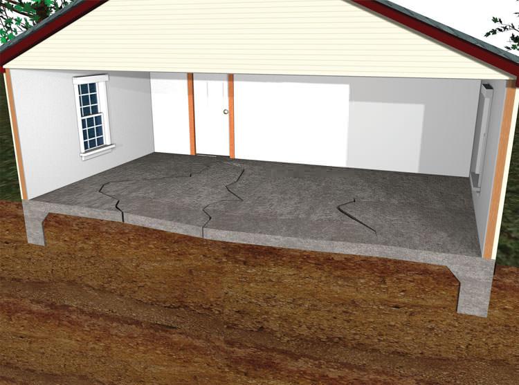 Best Flooring For Concrete Slab : Sinking uneven floor repair in huntington station bay