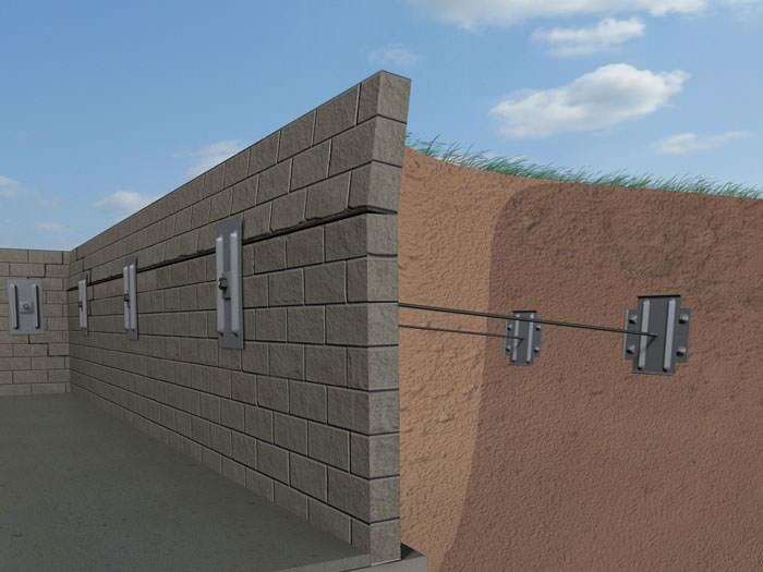 Basement Wall Caving In Part - 34: A Graphic Illustration Of A Foundation Wall System Installed In Merrick